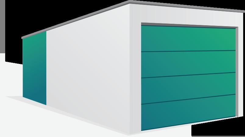 Garage mit Anbau - IBW Betongaragen